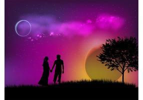Vector de fecha romántica