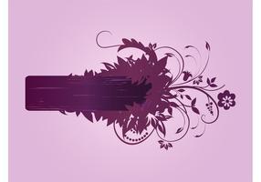 Blommor Vector Banner