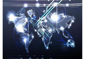 Neon-Karte Vektor