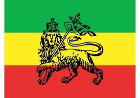 Äthiopische Flagge Vektor