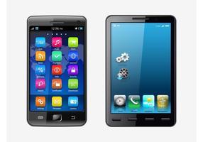 Realistas Smartphones Vector