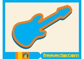 Elektrische gitaar icoon