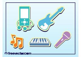 Muziek stickers