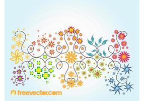 Graphiques vectoriels floraux d'été