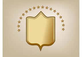 Vetor de escudo de bronze