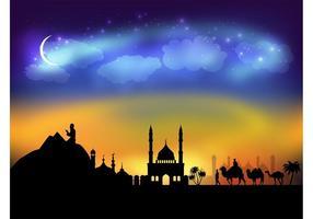 Vector árabe de la noche