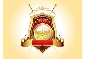 Golden Blazon Vector