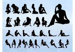 Women Vector Silhouettes