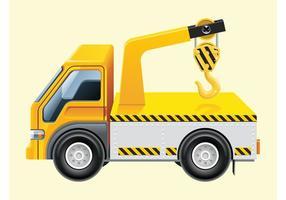Haak lift vrachtwagen vector
