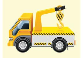 Hook Lift Truck Vector
