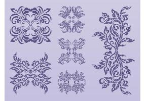 Antique Vector Flowers