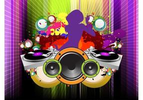 Girl DJ Vector