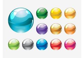 Glass Marbles Vectors