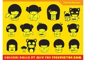Kawaii Dolls Vectors