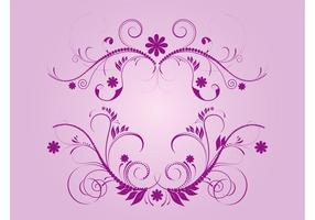 Purple Flourishes Vector