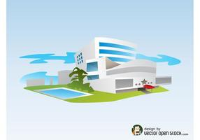 Seaside Hotel Vector
