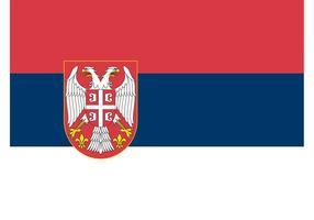 Serbische Flagge Vektor