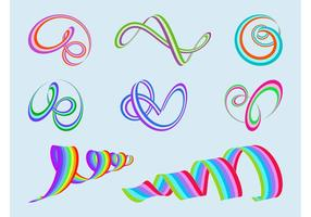 Colorful Spirals Vector