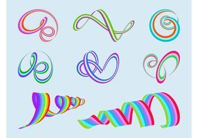 Colorido Spirals Vector
