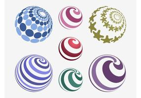 Vectores coloridos de las bolas