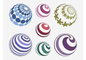 Vetores de bolas coloridas