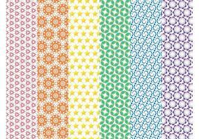 Färgglada vektormönster