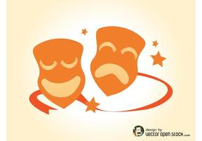 Drama Masks Vector