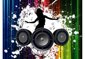 Vector Mädchen DJ