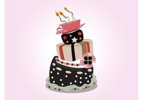 Vektor Geburtstagstorte