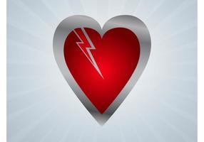 Åska hjärta vektor