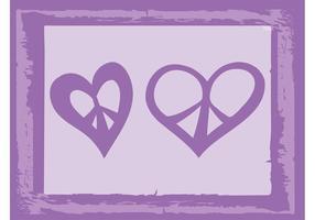 Frieden Herz-Vektoren