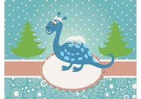 Christmas Dinosaur Vector