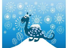 Schnee-Dinosaurier
