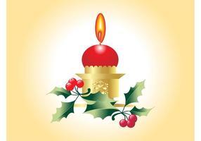 Vetor de vela de natal