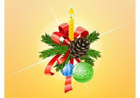 Adornos de Navidad del vector