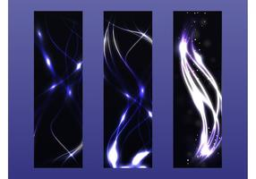 Neon vektor banners