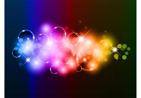 Vector-rainbow-bubbles-background