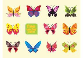 Papillons vectoriels colorés
