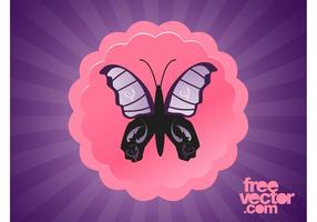 Lila Vector Butterfly