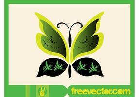 Green Vector Butterfly