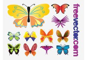 Vetores de borboletas