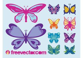 Papillons vectoriels