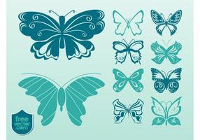 Imagens de borboletas vetoriais