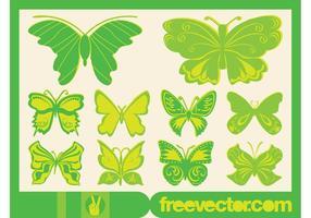 Gráficos de borboletas de vetores