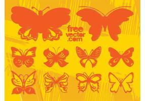 Grunge Vector Butterflies