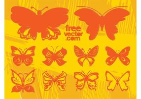 Grunge vektor fjärilar