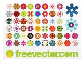 Iconos de las flores del vector