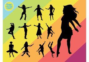 Dançarinos de vetores