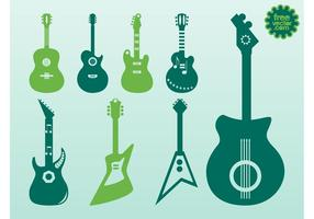 Guitarras vectoriales