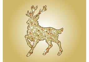 Vecteur de rennes de Noël